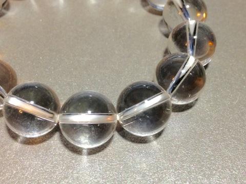シンプル白水晶ブレス 12ミリ
