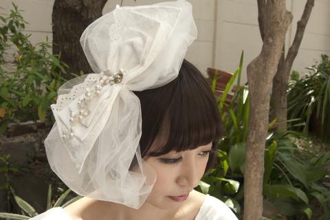 ヘアアクセサリー【ribbon・白】
