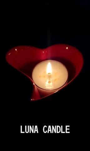 陶器のハート&ティーライト香り付き3個セット