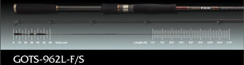 ≪SALE≫オリムピック グラファイトリーダー Tiro GOTS-962L-F/S フラットフィッシュモデル