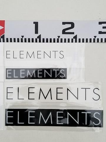 ELEMENTS(エレメンツ) ロゴカッティングステッカー