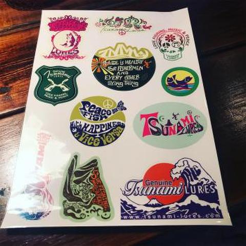 TunamiLures-A4 Sticker Sheet