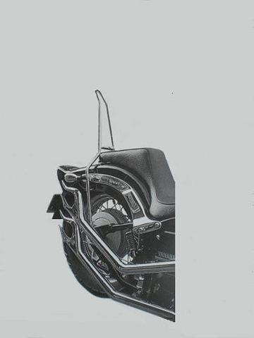 ドラッグスター400用              丸・シーシーバー                  (高さ40cm)