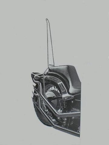 ドラッグスター400用            ミドル・シーシーバー                  (高さ70cm)