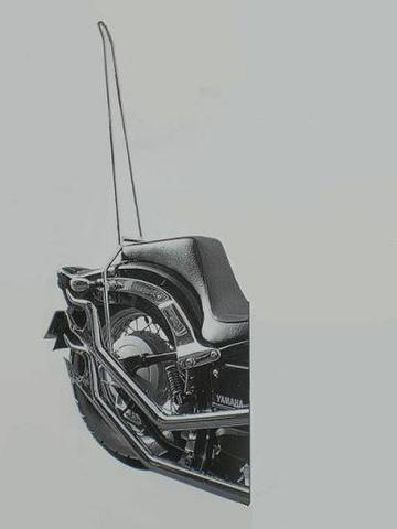 ドラッグスター400用        ロング・シーシーバー              (高さ90cm)