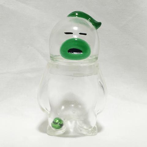 アレの見守りソフビ人形【信号3】クリア×グリーン