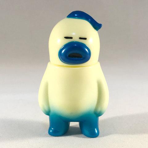 アレの見守りソフビ人形【Cream】Metallic Blue