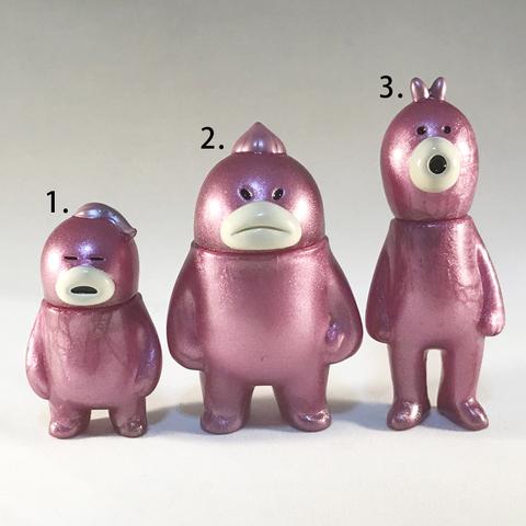 アレ、ソレ、コレの見守りソフビ人形【Cosmo Berrys】Metallic Pink