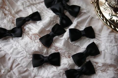 サテンリボンモチーフ 13㎜幅 黒