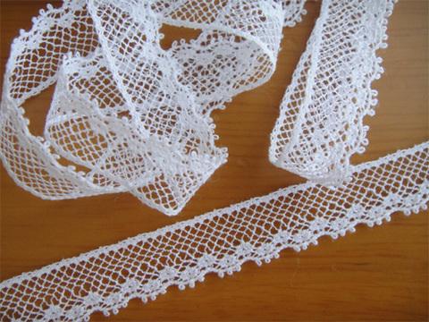 リバーレース 11mm巾 MF76/222 ホワイト@140cm