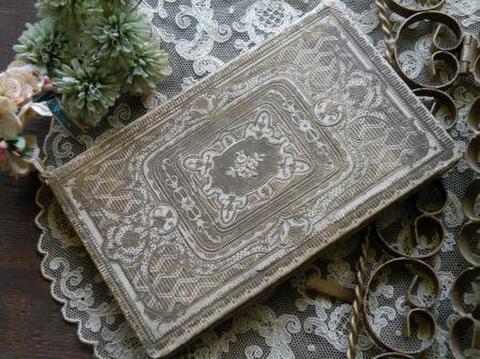 フランス製 アンティーク古書 ピンクとアイボリーのディスプレイ用ブック