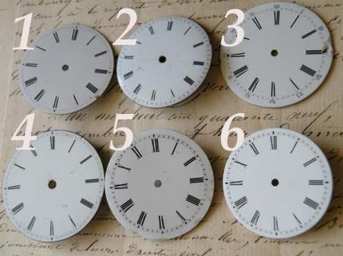 アンティーク ポーセリン 懐中時計の白い文字盤ギリシャ文字 選べる6種 K