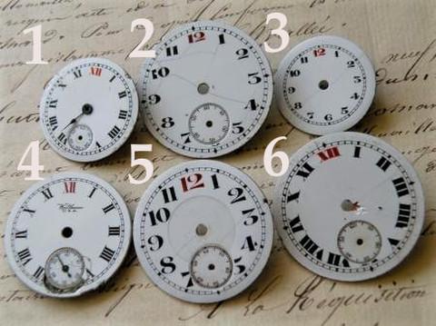 アンティーク ポーセリン 太い数字白い文字盤選べる6種 L