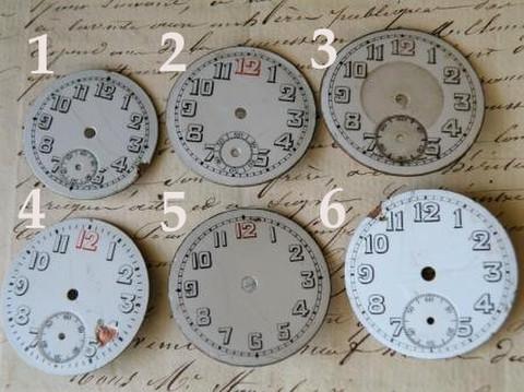 アンティーク ポーセリン 懐中時計の白い文字盤ギリシャ文字 選べる6種 H