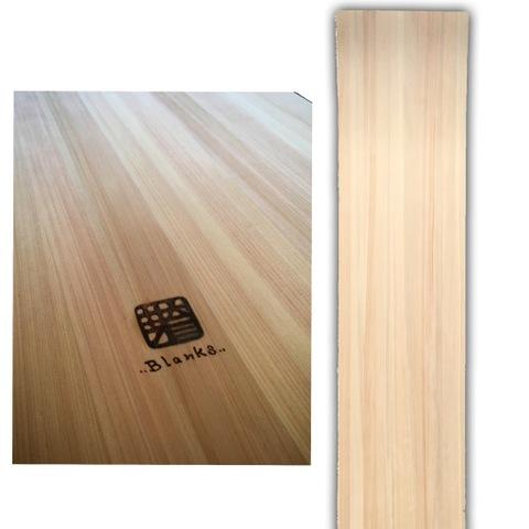 芽育 雪板blanks ひのき 3ply 120cm×30cm×1.5cm