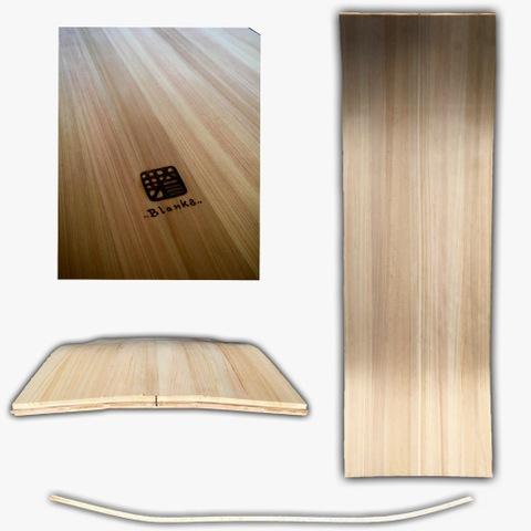 MAKE 雪板3D blanks ひのき 90cm ×25cm ×1.5cm A