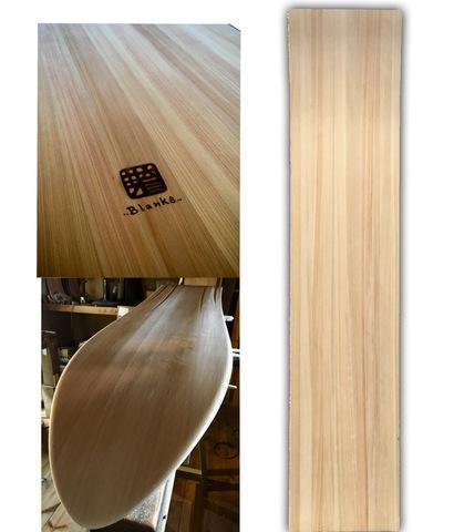 芽育雪板 3D blanks ひのき 2ply 130cm ×30cm×1cm