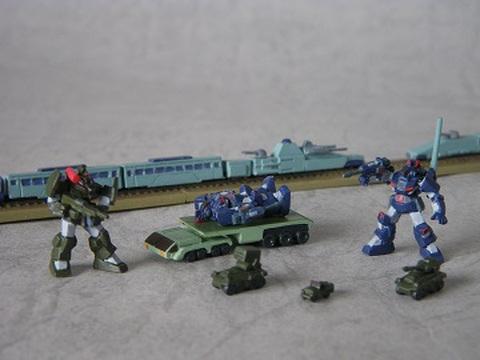 1/700 ダグラムシーナリー01 「軍用列車強襲」