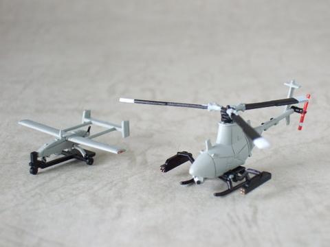 1/144 MQ-8A/RQ-8Aファイアスカウト&RQ-2パイオニア(米海軍)