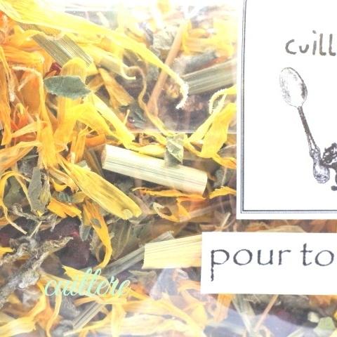cuillereオリジナル オーガニックブレンドハーブティー ~ pour toujours ~ ブレンドハーブティー3点以上ご購入で定形外送料無料