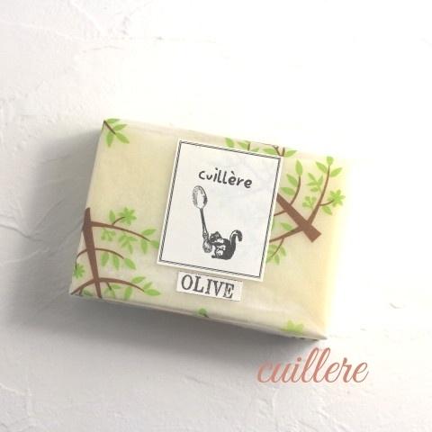 cuillere naturelle savon「olive」 コールドプロセス製法雑貨オリーブ石けん オーガニックEXVオリーブオイル使用
