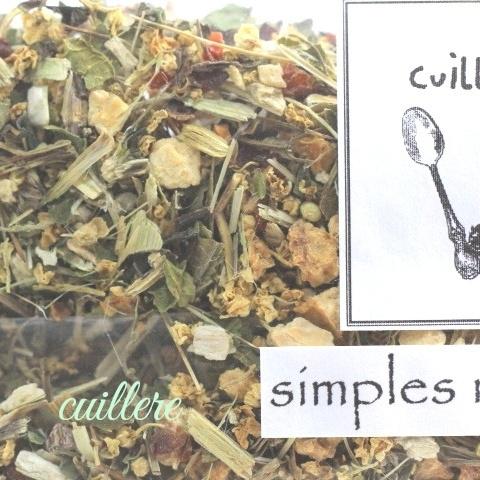 cuillereオリジナル オーガニックブレンドハーブティー ~ 'simples' remedies ~ ブレンドハーブティー3点以上ご購入で定形外送料無料