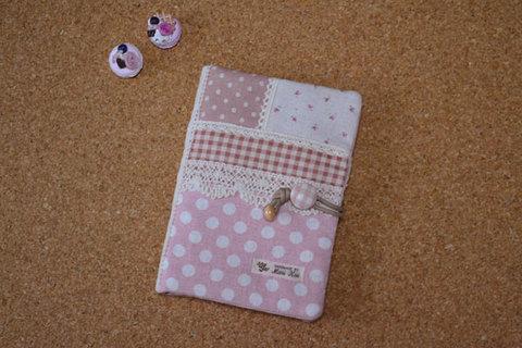 ピンクドット母子手帳ケース(Mサイズ)