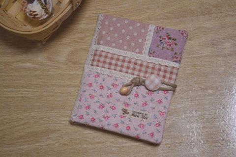 花柄ピンク母子手帳ケース(Sサイズ)