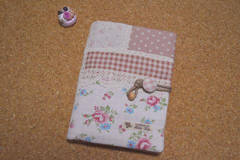 ピンク花柄母子手帳ケース