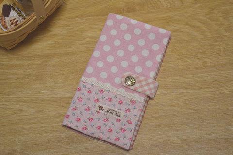 ピンクドット×花柄カードケース