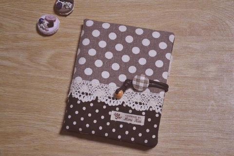 ドット×ドットブラウン母子手帳マルチケース(Sサイズ)