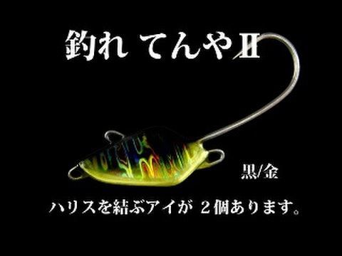 釣れてんやⅡ6号 黒/金