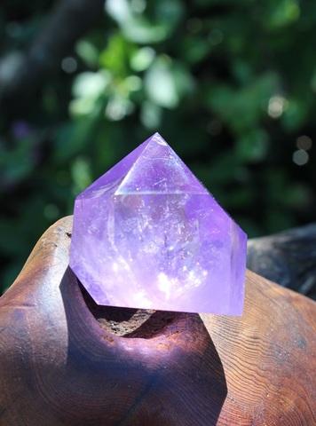 神秘の紫! 虹入りラベンダーアメジスト ポイント(短形)