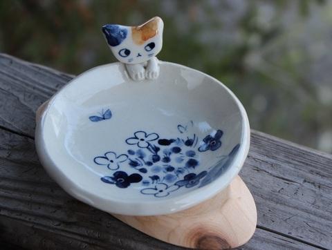 1点もの! 可愛い猫皿B
