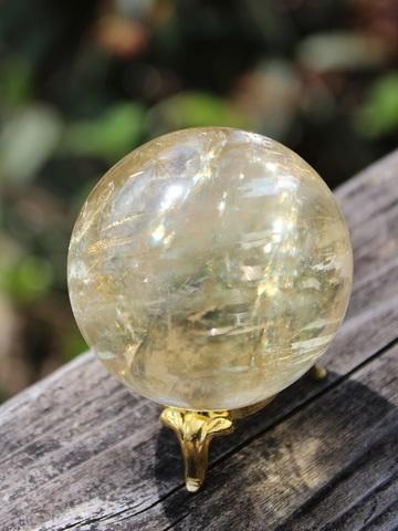セール特価! 優しい輝き! ゴールデンカルサイト 丸玉