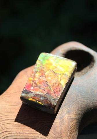 「七色の繁栄の石」 アンモライト(竜の皮) タンブル