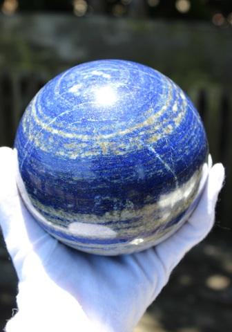 青い星! 叡智の石ラピスラズリ 超特大丸玉