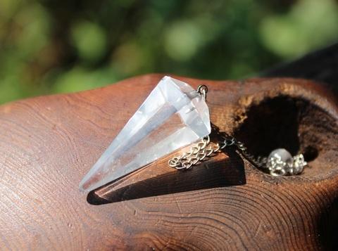 六角垂型 ヒマラヤ水晶ペンジュラム