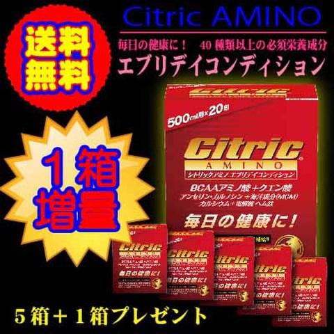シトリックアミノ                     エブリデイコンディション               6gX20包X5箱               プラス1箱