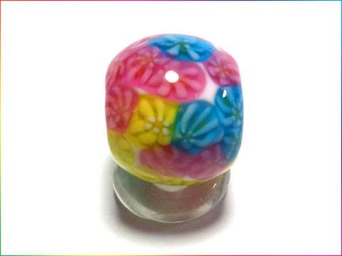 3色花とんぼ玉