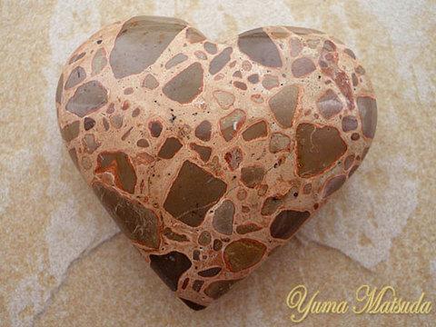 【レア!】幸運を呼ぶ石!「コングロメレイト」ハート型ストーン(NO.1)
