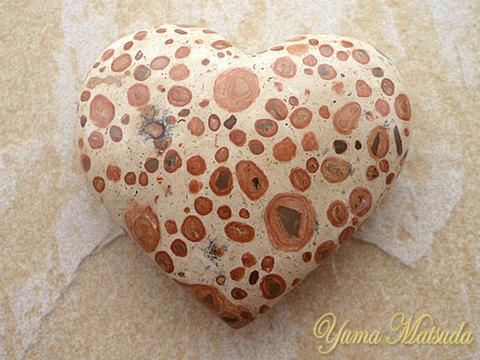 【レア!】幸福を呼ぶ石!「コングロメレイト」ハート型ストーン(NO.3)