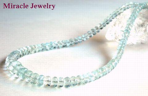 MJ史上最高宝石品質「幸せな結婚へのサポート・・・!ゴージャス「アクアマリン」宝石質ジュエリーネックレス】