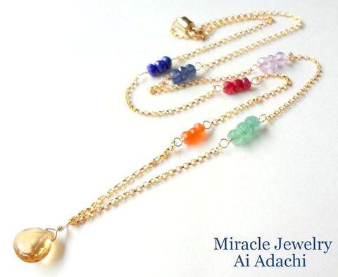「Rainbowプロジェクト」~虹の架け橋~【Rainbowカラフル♡ネックレス 】