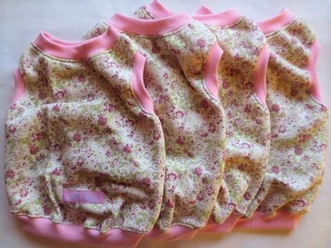 花×ピンク・ノースリーブ<各サイズ>