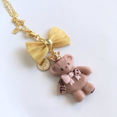 【sold out】chocolate bear ネックレス