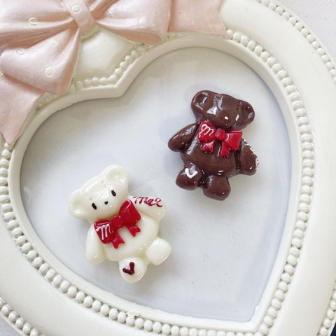 chocolate bear リング/ヘアピン