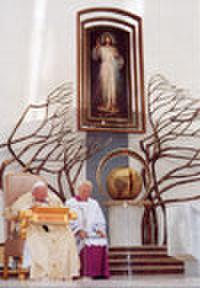 ご絵「神のいつくしみの大聖堂の教皇ヨハネ・パウロ2世(小サイズ)」