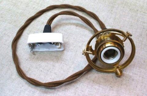 ペンダント灯具 E17用 BR 60cm HS1854