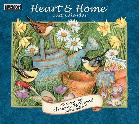 2020年度 ラングカレンダー Heart&Home (ハート&ホーム) USA